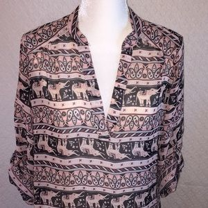 Rue 21 sheer elephant shirt